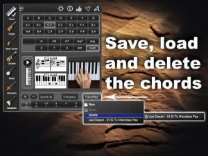 Chords Maestro save load delete the chords