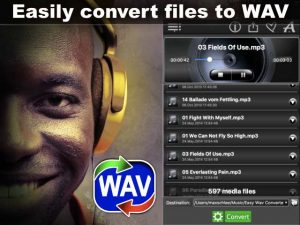 The app to convert audio & video files to wav format - Easy